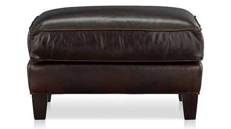 crate and barrel leather ottoman eiffel leather ottoman crate and barrel