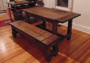 Reclaimed Wood Farmhouse Dining Table Harford Trestle Dining Table Farmhouse Reclaimed Wood