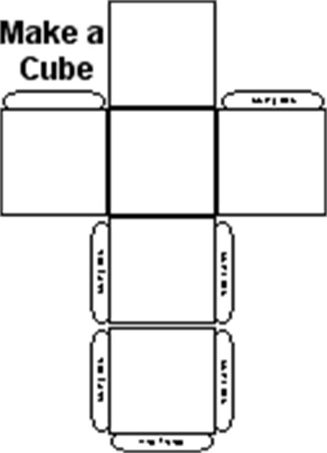 How To Make A Paper Block - template for cube template for rectangular prism