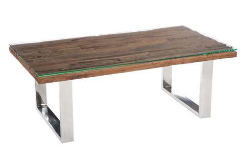 Table Basse Bois Metal 760 by Table Pied Acier Plateau Bois Jc17 Jornalagora