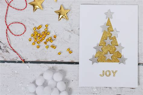 how to make glitter cards how to make a glitter tree card hobbycraft