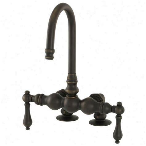 shop american bath factory f300 old world bronze 2 handle adjustable wall mount bathtub faucet belle foret 80054r 30 single basin vanity dark cherry