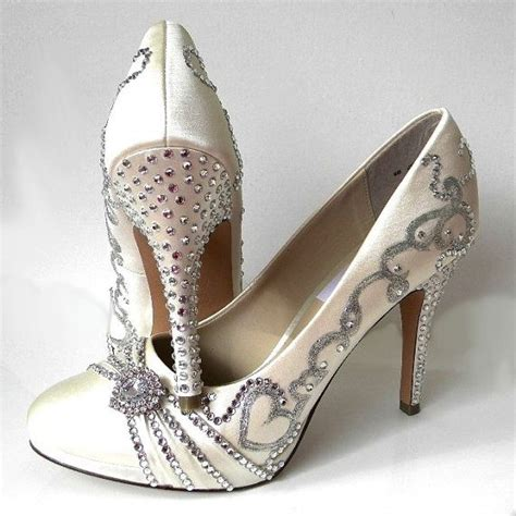 Wedding Shoes With Bling by Wedding Shoes Silver Filigree Rhinestones Heels Bling