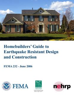 design criteria for earthquake resistant buildings fema 232 homebuilders guide to earthquake resistant