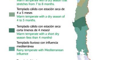oscilacion termica clima mediterraneo climas de chile icarito