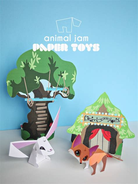 printable animal figures animal jam paper toy printables sarapiea forest toys