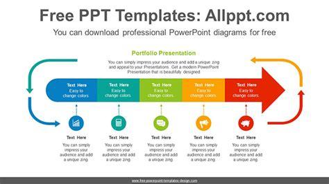 Arrows Progress Powerpoint Diagram Template Process Flow Powerpoint Template Free