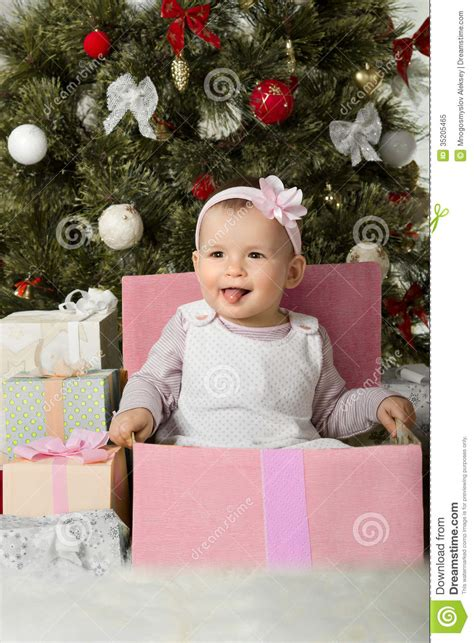 christmas and baby girl royalty free stock photo image