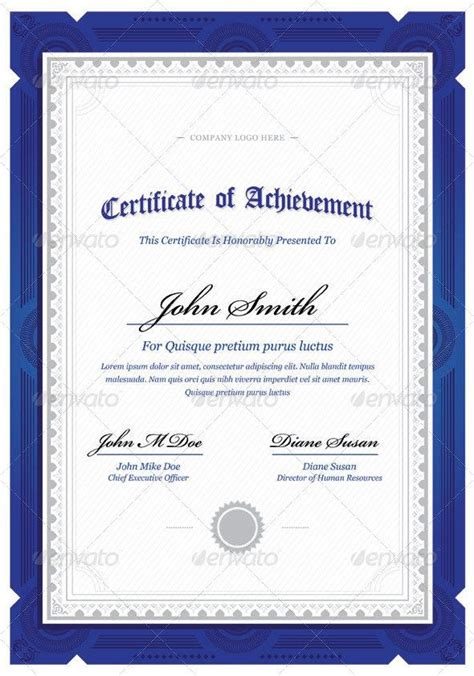 10 Best Clip Art Images On Pinterest Award Certificates Border Design And Certificate Of Award Certificate Template Photoshop