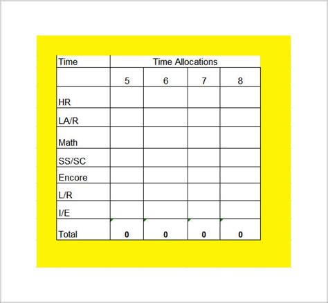 schedule for school template class schedule template 6 free documents in