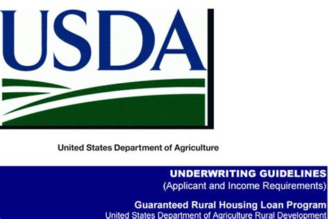 rural housing loan income requirements usda underwriting guidelines