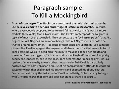 To Kill A Mocking Bird Essay by Essays For To Kill A Mockingbird Writefiction581 Web Fc2