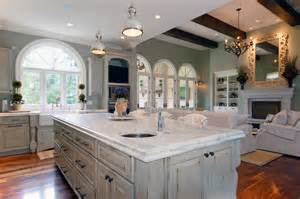 distressed and antique white finish kitchen cabinets with
