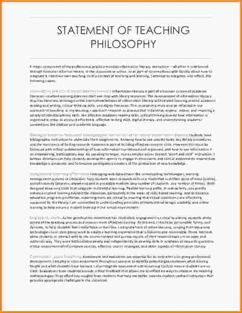 teaching philosophy statement exles teachphilosophy6