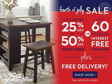 fourth  july furniture sale star furniture mattress