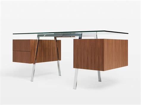 Home Work Desk by Glass Writing Desk With Drawers Homework By Bensen