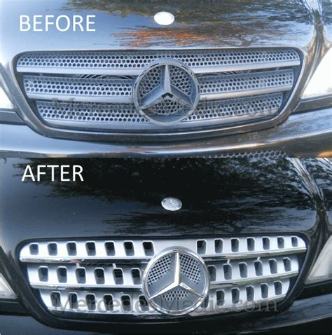 Grill Mercedezbenz W203 2000 2006 Black Chome Look how to upgrade mercedes front grill