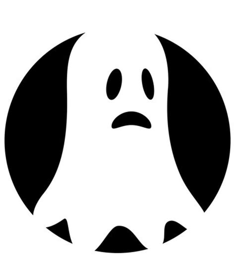 ghost pumpkin template 8 pumpkin carving stencils real simple