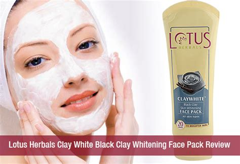 Masker Clay Pack lotus herbal clay white black clay whitening pack review