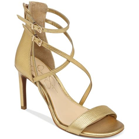gold sandals myelle strappy sandals in gold lyst