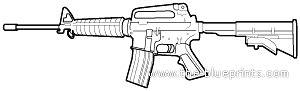 the blueprints.com blueprints > weapons > rifles > colt