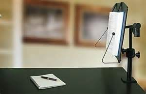 levo bookholder cls to desk enables free reading
