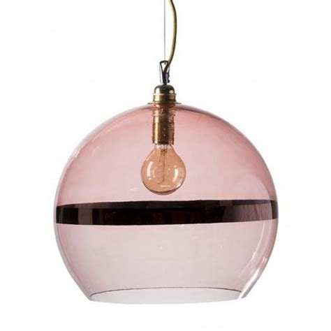 Pink Glass Pendant Light Large Coral Pink Glass Globe Ceiling Pendant Light With Metallic