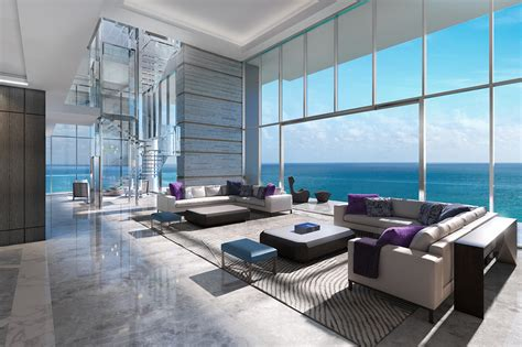 miami beach penthouse beach style living room other in miami all eyes are on north beach mansion global