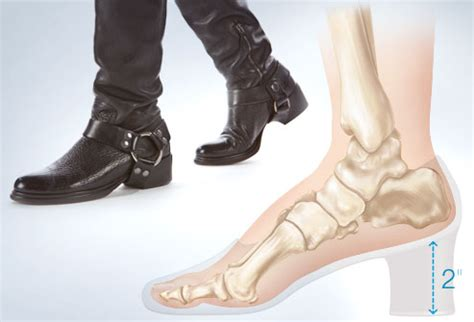mens boots with 2 inch heels worst shoes for your foot health and with pictures