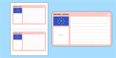 driving license template blank driving licence template driving cars template