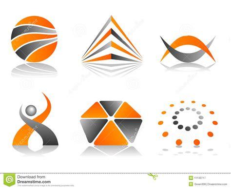 Logo Icon Design Online   vector abstract logo icon design set royalty free stock