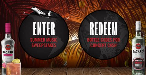 Bacardi Summer Music Sweepstakes - win a 13k trip to concert of your choice sweeps invasion