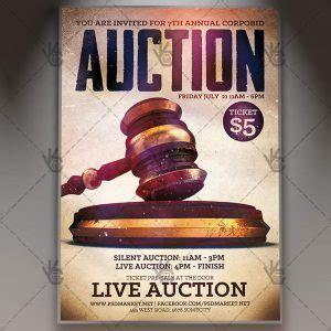 Live Auction Premium Flyer Psd Template Psdmarket Auction Flyer Template