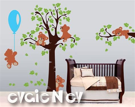 teddy wall stickers wall decals giveaway with evgie