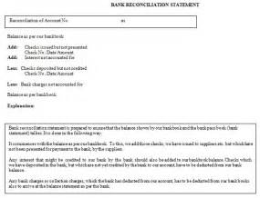 sample form bank reconciliation statement funds for ngos