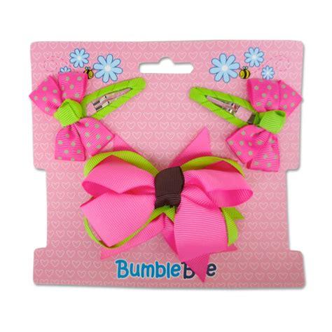 Set Bee Pink bumble bee hair set shocking pink xla0036 clothing