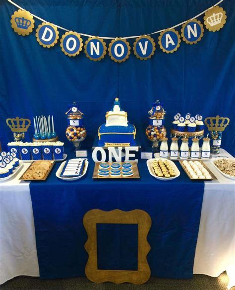 royalty themed decorations royalty blue gold birthday ideas photo 1 of 7
