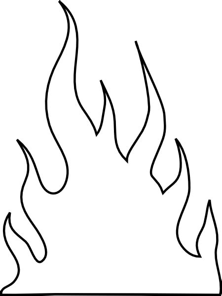 flames template flames outlines clip at clker vector clip