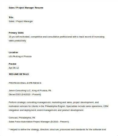 Sales Manager Resume Template by 10 Sales Manager Resume Templates Pdf Doc Free