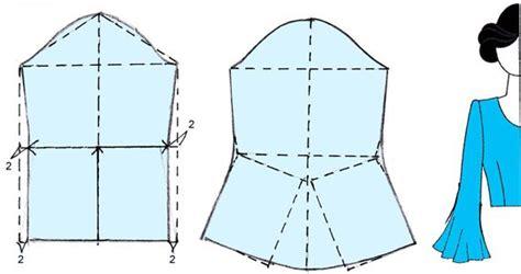 membuat pola baju model kelelawar membuat lengan lonceng bell sleeve