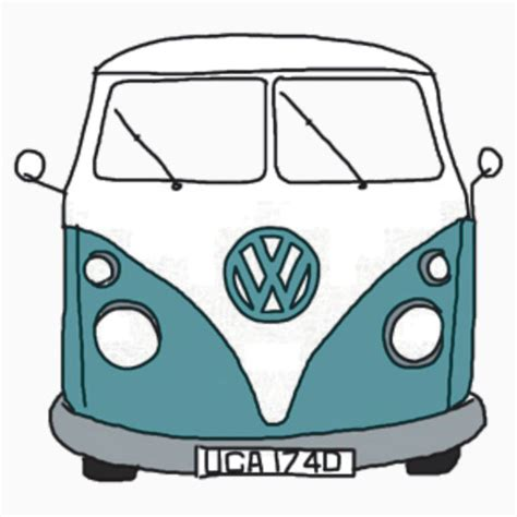 hippie van drawing quot hippie van quot stickers by lbramble15 redbubble
