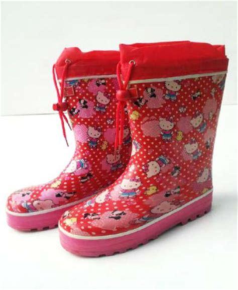 Sepatu Boot Anak Pita Fanta perlengkapan hujan sepatu boot anak karakter