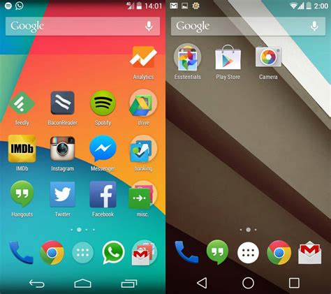 android features lollipop vs kitkat sweet and sour android features