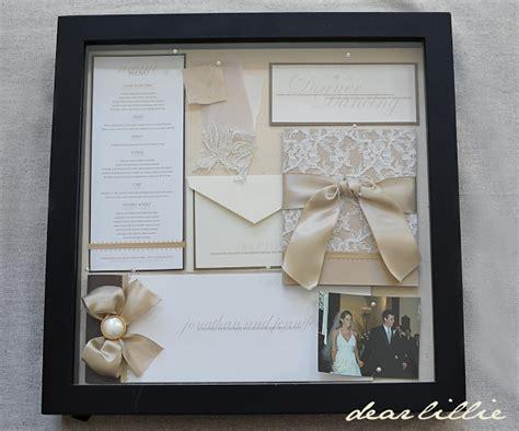 Wedding Box Frame Ideas by Our Wedding Invitation Program And Menu Box Frame