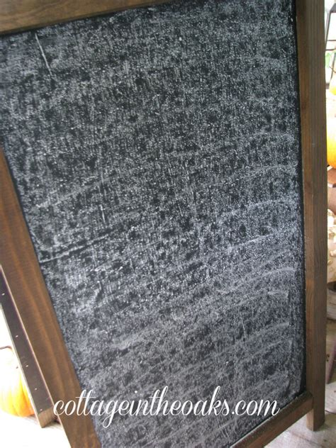 How To Season Chalkboards Cottage In The Oaks