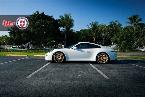 gold porsche gt3 porsche 991 gt3 on gold hre wheels