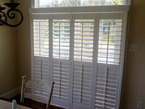 Plantation Shutters For Sliding Glass Doors Cost Plantation Shutters For Sliding Doors Drapery Crafters Downingtown Pa 19335