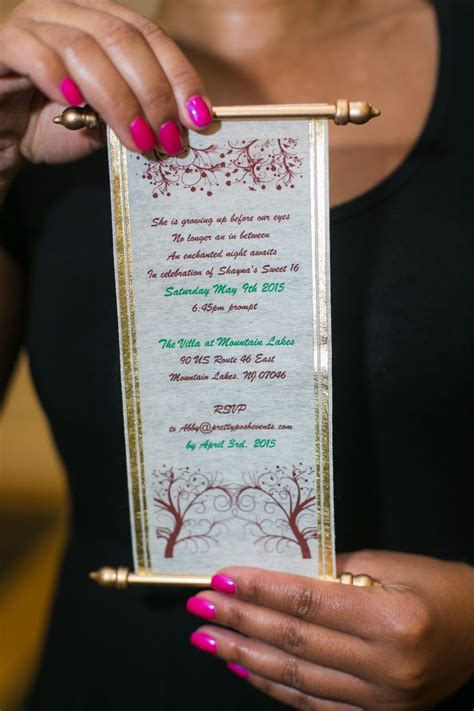 image result  enchanted forest scroll invitation