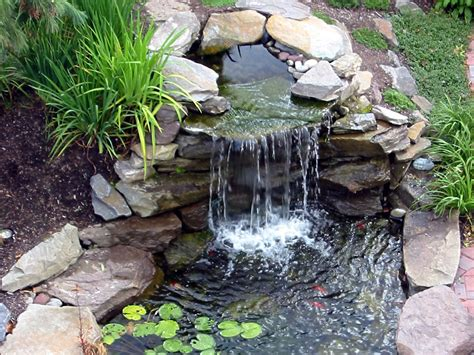 garden waterfall pond designs for awesome garden decoration