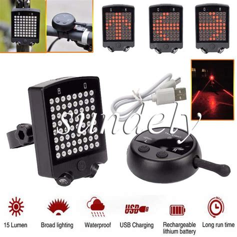 easy on wireless tail lights bicycle bike rear tail laser led indicator turn signal